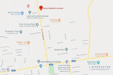 asian medical institute map