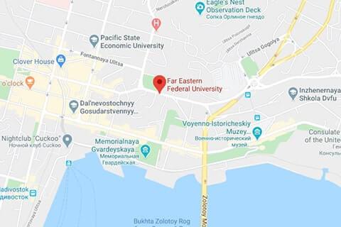 map of far-eastern federal university