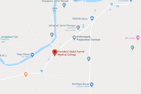 map of president abdul hamid medical college