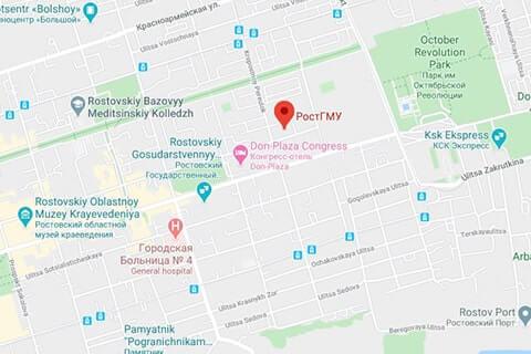 map of rostov state medical university
