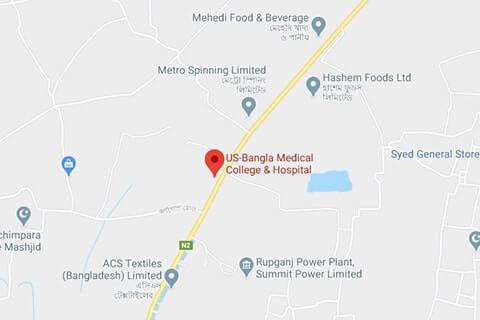 map of us bangla medical college
