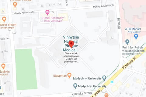 map of vinnitsa national medical university