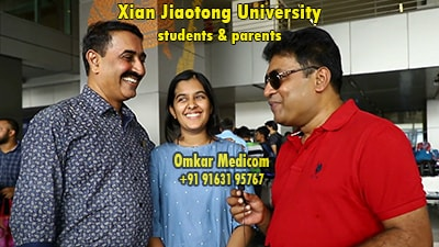 Mr Bhaumik of Omkar Medicom with student and parent of karnataka for mbbs in china