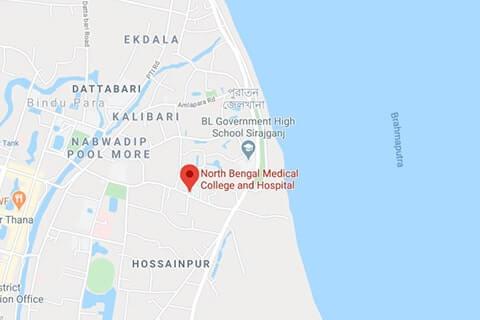 Map of North Bengal Medical College Bangladesh