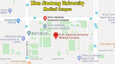Map of Xian Jiaotong University Medical Campus, Best college in abroad for Indian students to study mbbs,